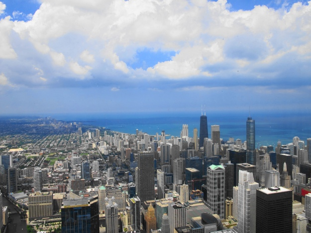 view from Chicago SkyDeck
