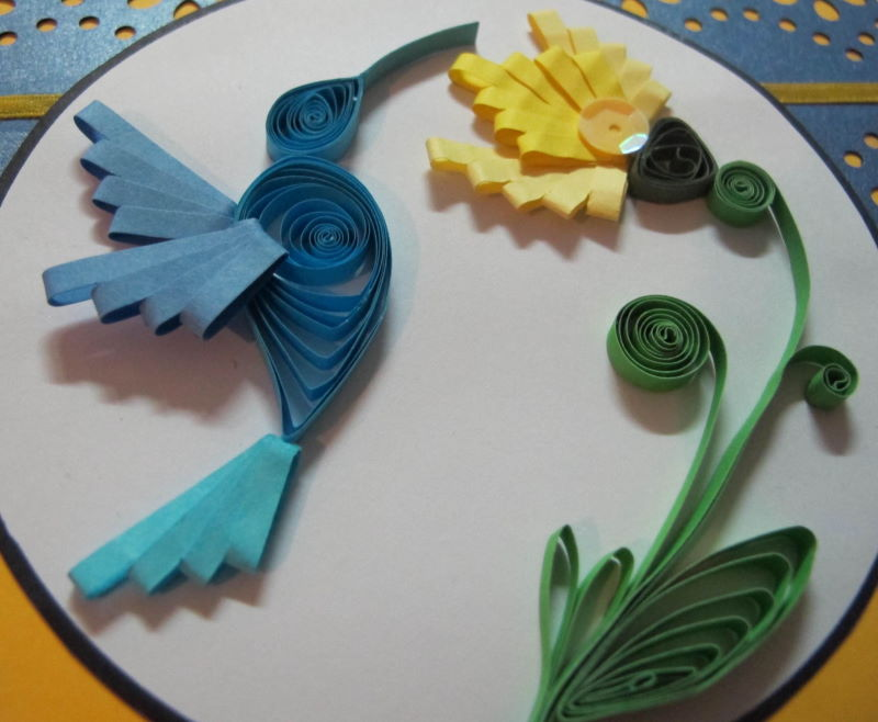 Quilled Hummingbird Close Up