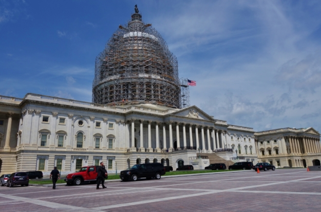 renovation is underway for the United States Capitol Dome
